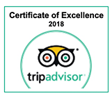 Certificate of Excellence 2018. trip advisor